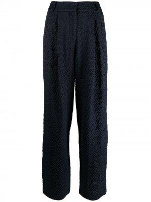 Прямые брюки с геометричным узором Emporio Armani. Цвет: синий