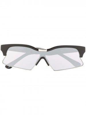 Солнцезащитные очки 3 Special в прямоугольной оправе Marcelo Burlon County of Milan. Цвет: черный