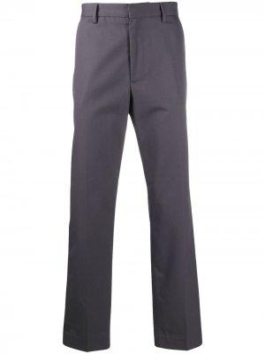 Саржевые брюки чинос кроя слим Acne Studios. Цвет: серый