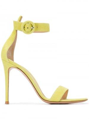 Босоножки с открытым носком Gianvito Rossi. Цвет: зеленый