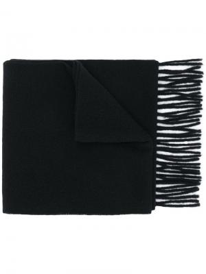 Fringed hem knitted scarf Tiger Of Sweden. Цвет: черный