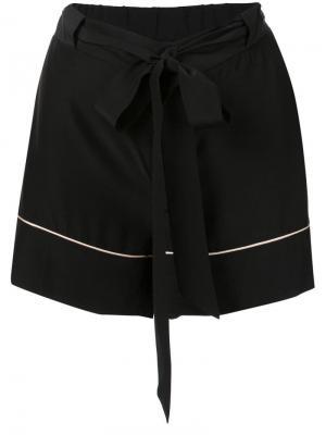 Пижамные шорты с поясом Kiki de Montparnasse. Цвет: черный