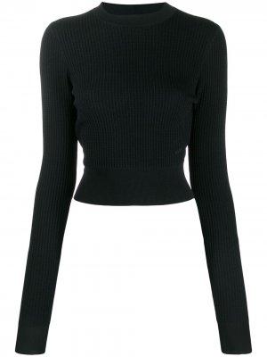 Укороченный джемпер с длинными рукавами Victoria Beckham. Цвет: синий
