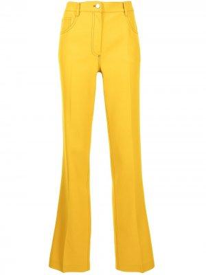 Прямые брюки с завышенной талией Giambattista Valli. Цвет: желтый