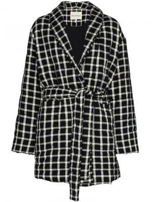Клетчатое пальто Willa Mara Hoffman. Цвет: черный