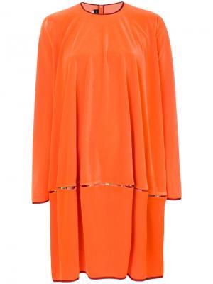 Платье Nomoi1 Talbot Runhof. Цвет: оранжевый