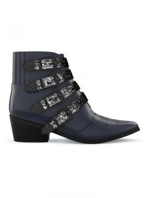 Ботинки с пряжками Toga Pulla. Цвет: черный