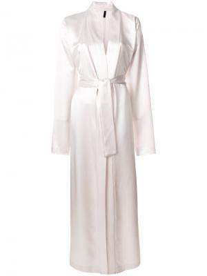 Длинный классический халат Unravel Project. Цвет: розовый