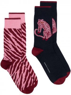 Комплект из двух пар носков Desmond & Dempsey. Цвет: синий