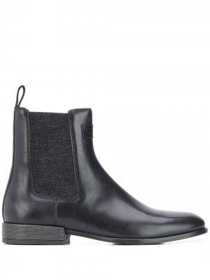 Ботинки с металлическим логотипом Brunello Cucinelli. Цвет: черный