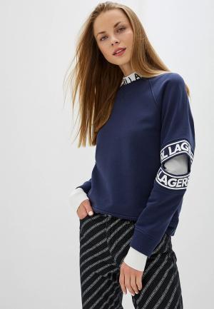 Свитшот Karl Lagerfeld. Цвет: синий