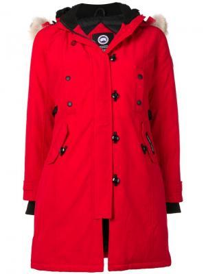 Пальто свободного кроя Canada Goose. Цвет: красный