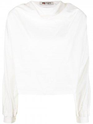 Блузка с воротником-хомутом Ports 1961. Цвет: белый