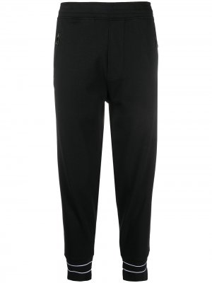 Укороченные спортивные брюки с отделкой в полоску Neil Barrett. Цвет: черный