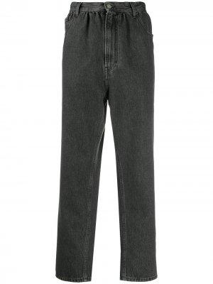 Зауженные джинсы с завышенной талией MM6 Maison Margiela. Цвет: черный