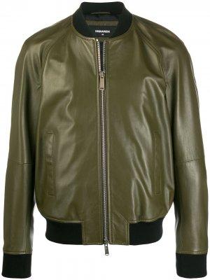 Куртка-бомбер Dsquared2. Цвет: зеленый