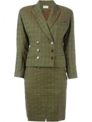 Юбка и жакет Alaïa Vintage. Цвет: зеленый