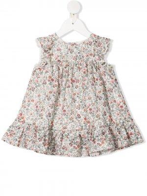 Платье с оборками и цветочным принтом Tartine Et Chocolat. Цвет: нейтральные цвета