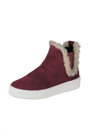 Ботинки BOTTERO. Цвет: бордовый
