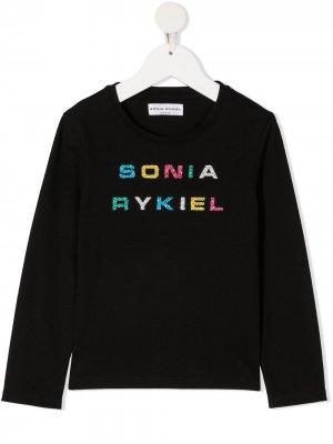 Glitter logo sweatshirt Sonia Rykiel. Цвет: черный