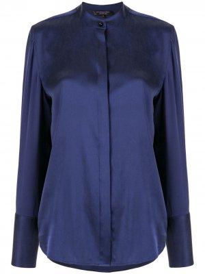 Рубашка с пуговицей Shanghai Tang. Цвет: синий