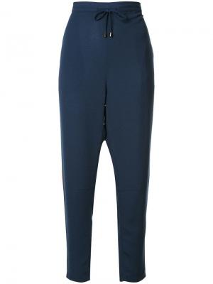 Зауженные брюки со шнурком Mads Nørgaard. Цвет: синий