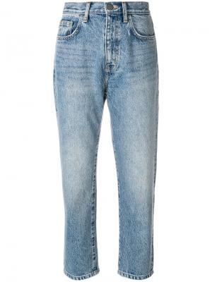 Прямые укороченные джинсы Current/Elliott. Цвет: синий