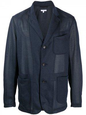 Однобортное пальто Engineered Garments. Цвет: синий