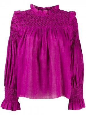Присборенная блузка с оборками Sea. Цвет: фиолетовый