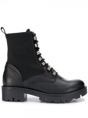 Ботинки с заклепками Tosca Blu. Цвет: черный