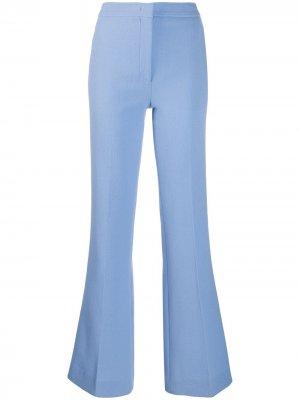 Расклешенные брюки строгого кроя Emilio Pucci. Цвет: синий