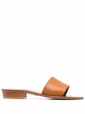 Мюли на низком каблуке K. Jacques. Цвет: коричневый