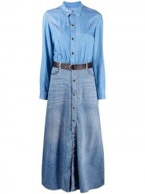 Джинсовое платье Angie Jacob Cohen. Цвет: синий