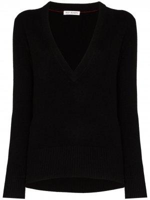 Кашемировый свитер с V-образным вырезом Ply-Knits. Цвет: черный