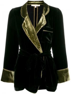 Бархатный пиджак Gold Hawk. Цвет: черный