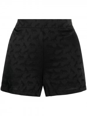 Пижамные шорты с узором Stella McCartney. Цвет: черный