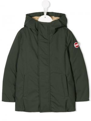 Hooded coat Colmar Kids. Цвет: зеленый