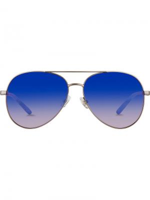 Aviator frame sunglasses Matthew Williamson. Цвет: серебряный