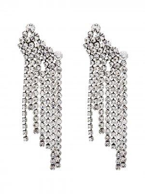 Серьги с кристаллами Isabel Marant. Цвет: серебристый