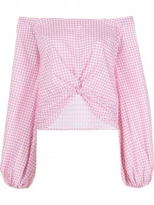 Блузка Maddie с приспущенными плечами Caroline Constas. Цвет: розовый