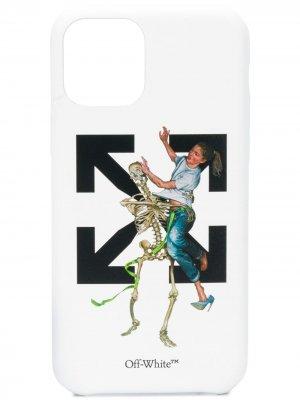 Чехол Pascal Skeleton для iPhone 11 Pro Off-White. Цвет: белый