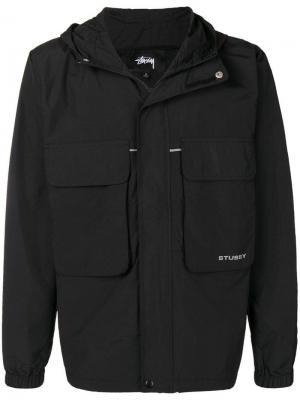 Куртка с карманами клапанами Stussy. Цвет: черный
