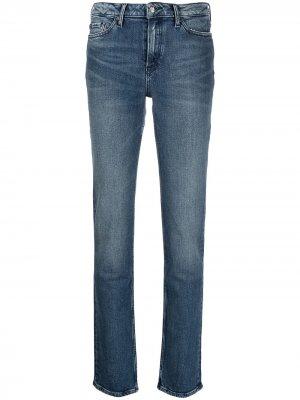 Прямые джинсы средней посадки Tommy Hilfiger. Цвет: синий