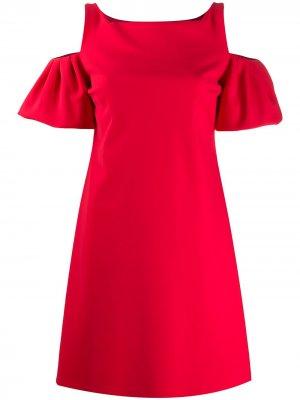 Платье мини с пышными рукавами Le Petite Robe Di Chiara Boni. Цвет: красный