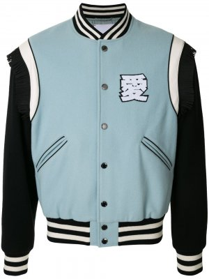 Куртка-бомбер с вышитым логотипом Ports V. Цвет: синий