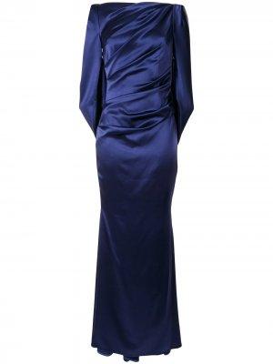 Длинное вечернее платье Talbot Runhof. Цвет: синий