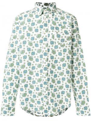 Поплиновая рубашка с узором пейсли Gant By Michael Bastian. Цвет: белый
