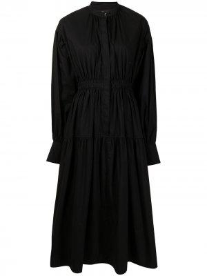 Платье с открытой спиной и длинными рукавами Proenza Schouler. Цвет: черный