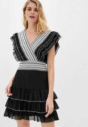 Платье Silvian Heach. Цвет: черный