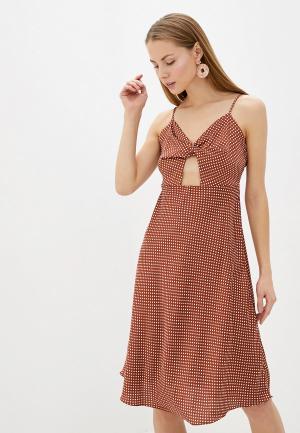 Платье Glamorous. Цвет: коричневый